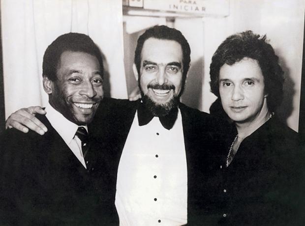 Pelé, Miele e Roberto Carlos