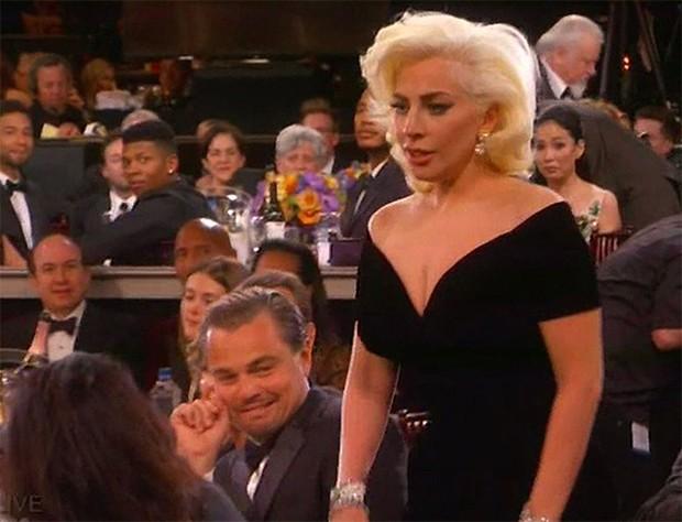Globo de Ouro: Esbarrão de Lady Gaga em Leonardo DiCaprio teria ...
