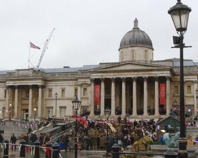'Wonder Woman' filming in Trafalgar Square
