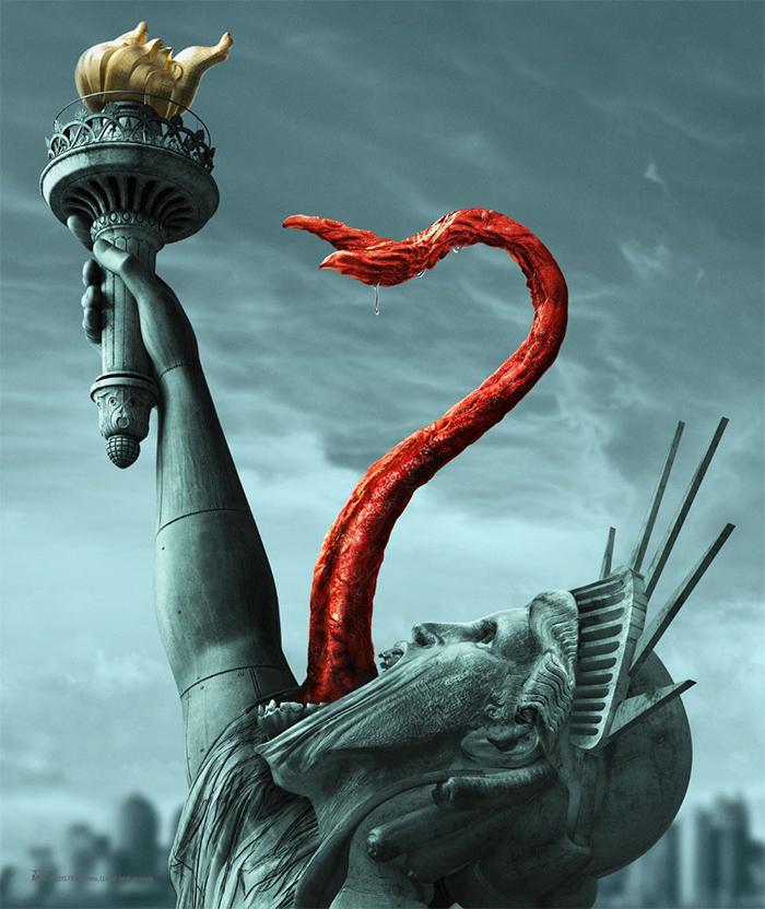 The Strain: Até a Estátua da Liberdade é vampirizada nos pôsteres ...