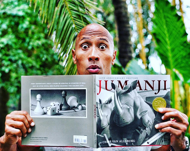 Jumanji: Dwayne Johnson e Kevin Hart divulgam vídeos dos ...