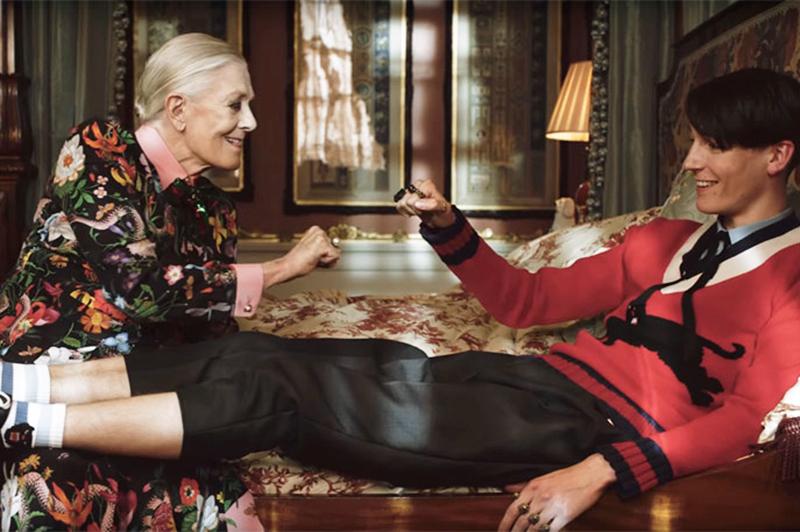 Vanessa Redgrave estrela campanha de moda da grife Gucci aos ...