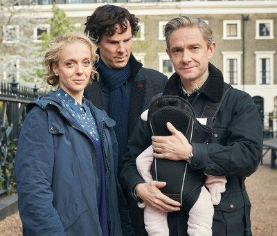 Vídeo de bastidores de Sherlock foca o bebê de Mary e John Watson