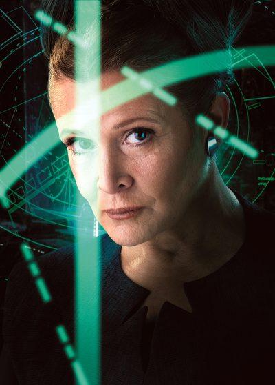 Carrie Fisher terá maior destaque em seu último filme da saga Star Wars