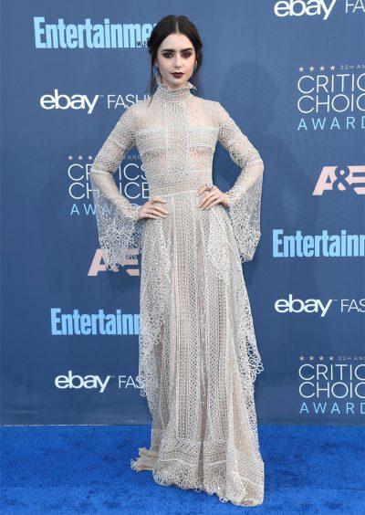 Tapete vermelho do Critics' Choice destaca volta do estilo gótico à moda
