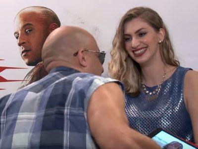 Vin Diesel assedia youtuber brasileira durante entrevista