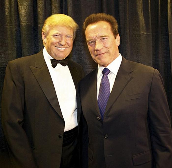 Donald Trump e Arnold Schwarzenegger batem boca por audiência de reality show