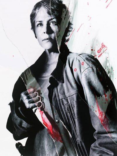Personagens de The Walking Dead ganham retratos sangrentos
