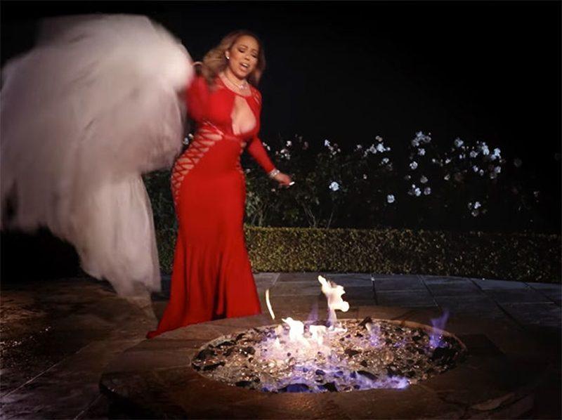 Mariah Carey queima seu vestido de noiva de US$ 250 milhões em novo clipe