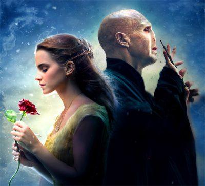 Hermione se apaixona por Voldemort em mash-up de A Bela e a Fera e Harry Potter