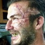 David Beckham assusta os fãs com cicatriz usada no filme do Rei Arthur