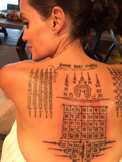 Angelina Jolie e Brad Pitt fizeram tatuagens de união eterna pouco antes do divórcio