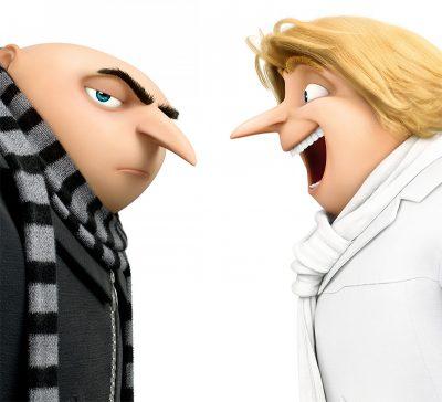 Gru conhece seu gêmeo rico, cabeludo e do mal no trailer dublado de Meu Malvado Favorito 3