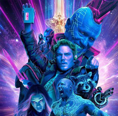 """Guardiões da Galáxia Vol. 2 ganha pôster """"new wave"""""""