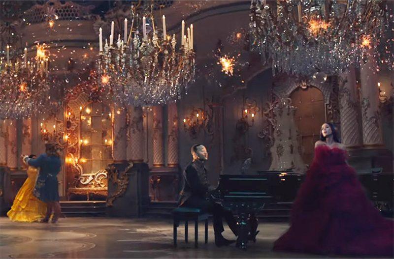 Clipe coloca Ariana Grande e John Legend no castelo de A Bela e a Fera