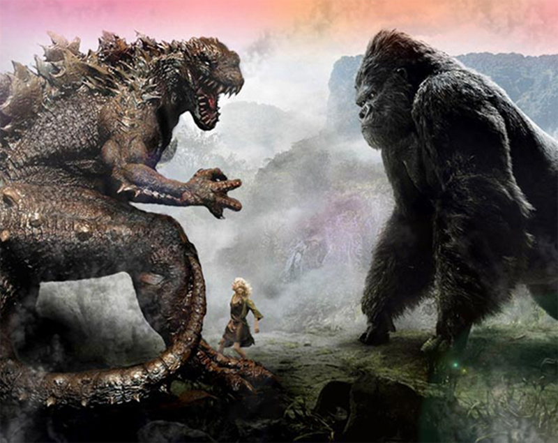 Filme que vai juntar Godzilla e King Kong define ...