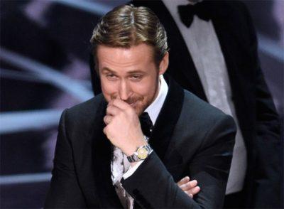 Ryan Gosling explica porque riu durante a confusão do Oscar 2017