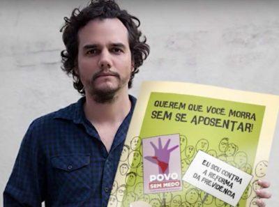Wagner Moura e governo protagonizam confronto sobre a reforma da Previdência