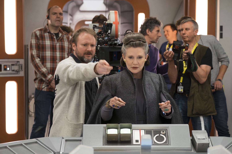 Diálogos de Leia em Star Wars: Os Últimos Jedi foram criados por Carrie Fisher