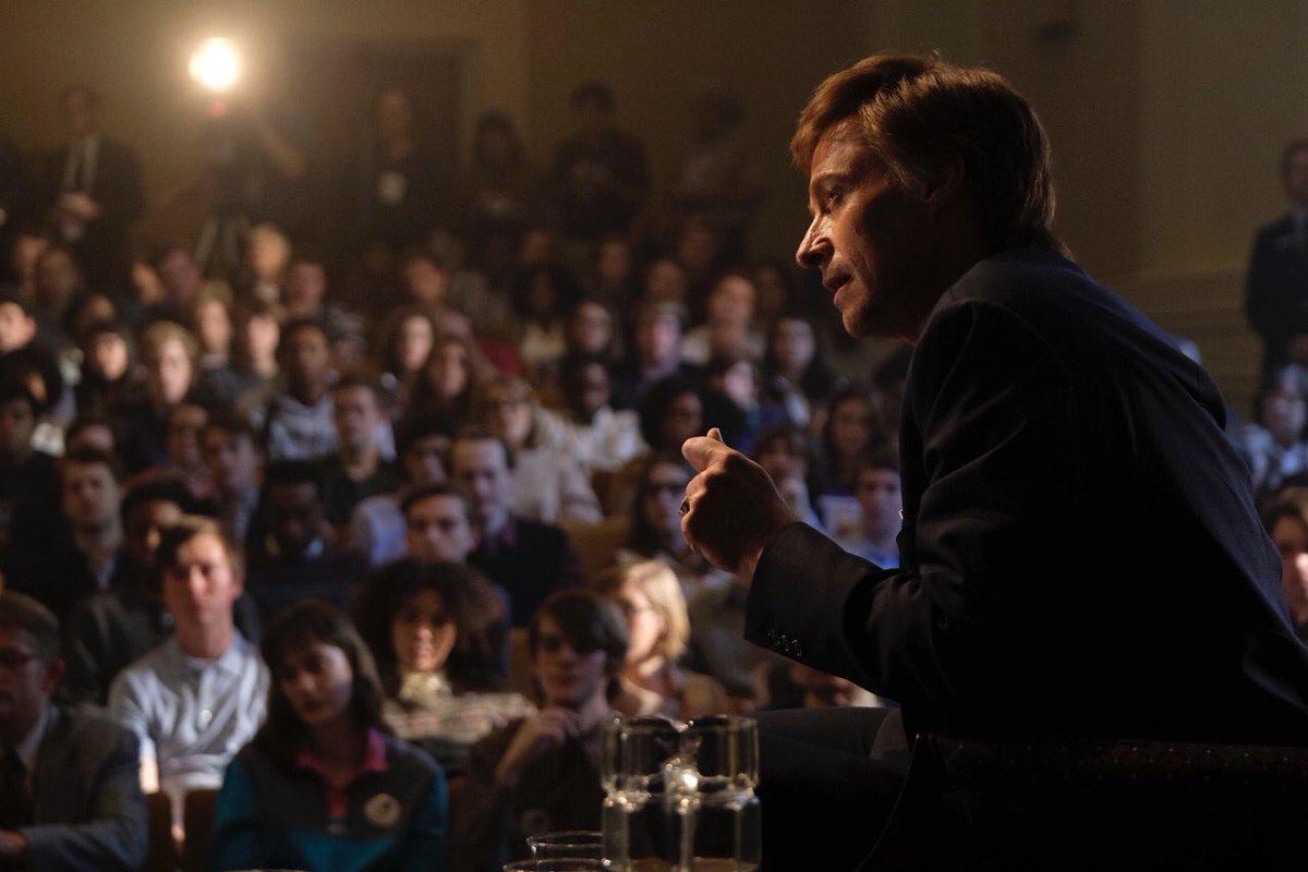 Hugh Jackman é o favorito à presidência dos EUA na primeira foto de The Front Runner