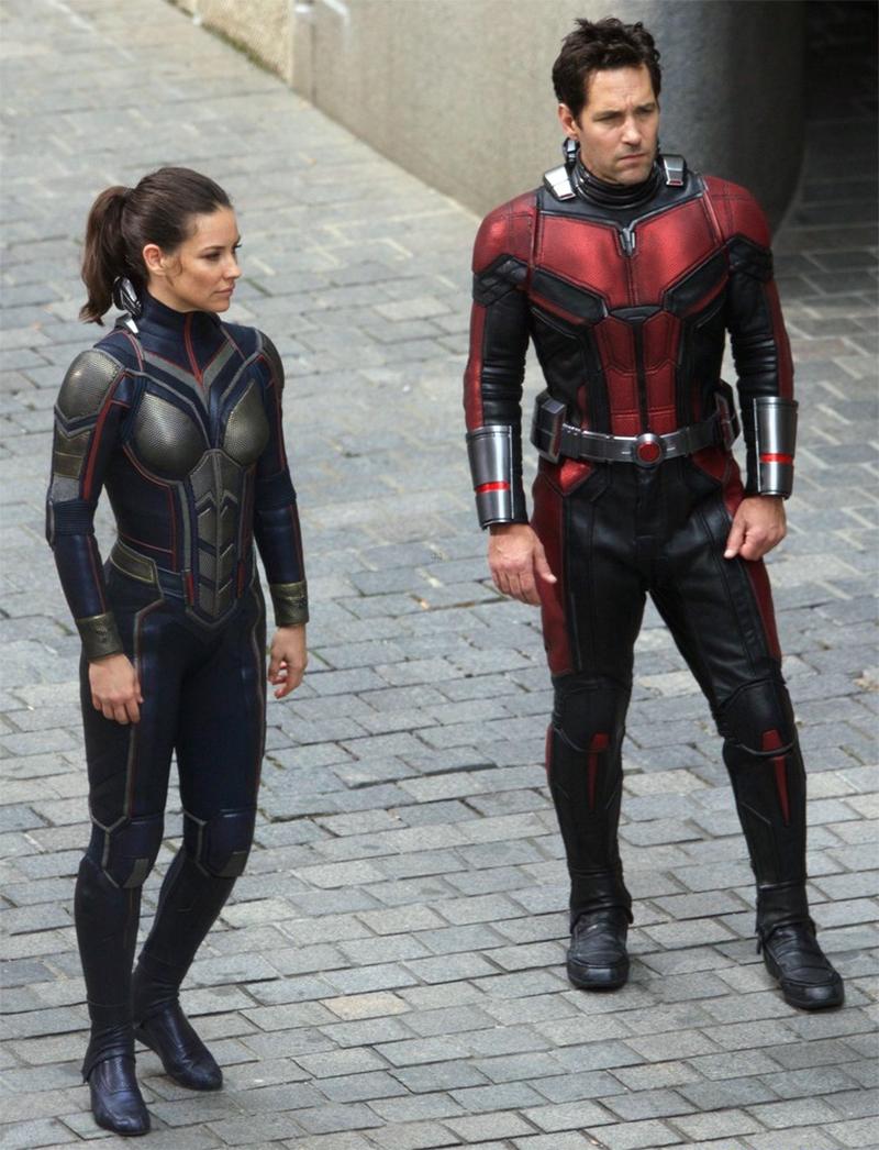 Homem-Formiga e Vespa surgem uniformizados em novas fotos do set