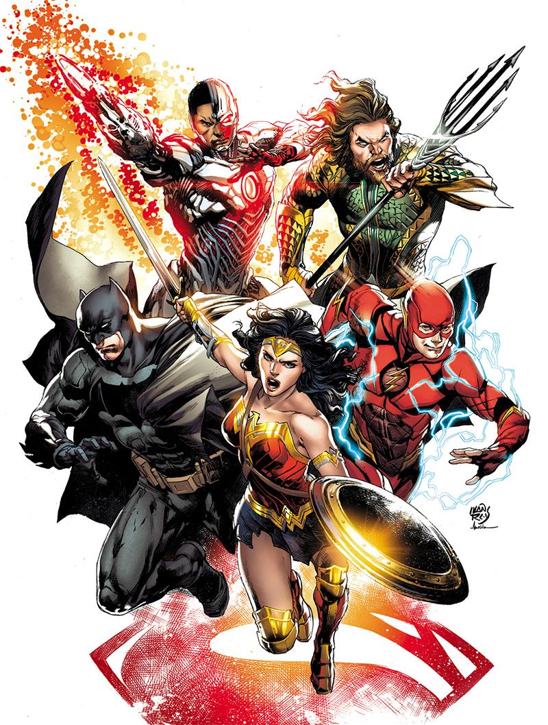 Desenhista brasileiro dos quadrinhos da Liga da Justiça assina novo pôster do filme