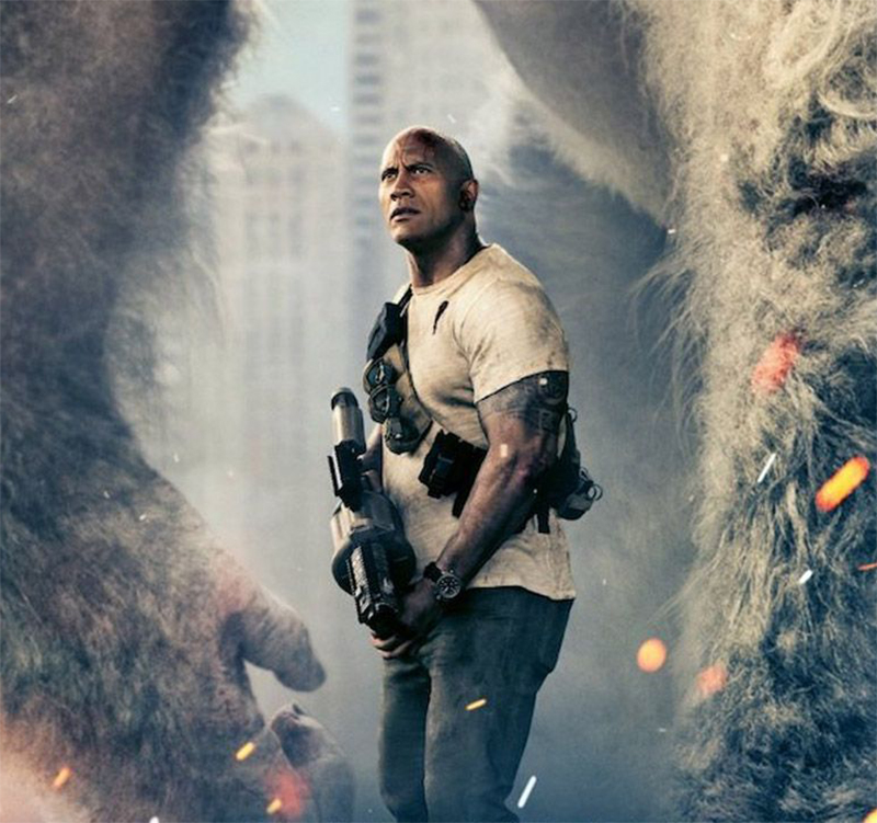 Dwayne Johnson enfrenta monstros no trailer legendado de Rampage