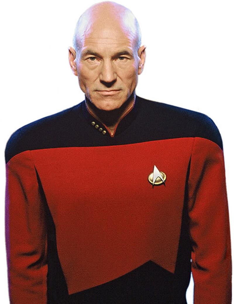 Patrick Stewart divulga primeira foto dos bastidores de sua volta a Star Trek