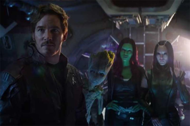 Cena inédita de Vingadores: Guerra Infinita com os Guardiões da Galáxia volta a vazar