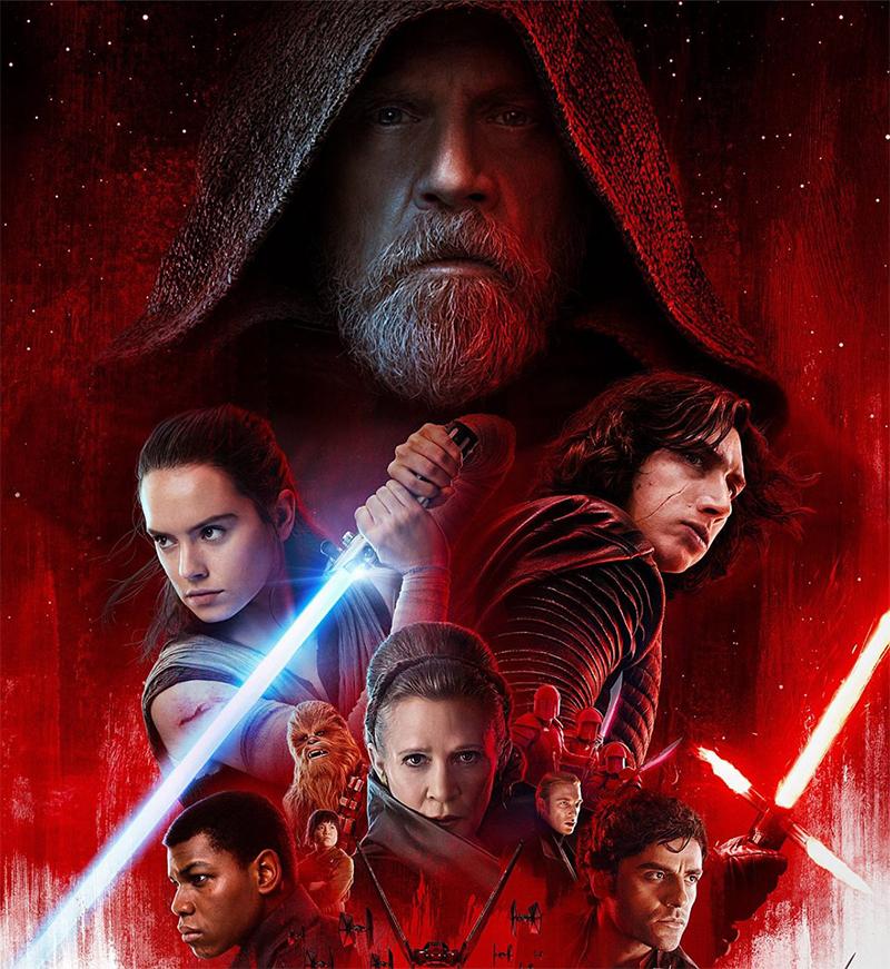 Star Wars: Os Últimos Jedi monopoliza os cinemas com sua Força