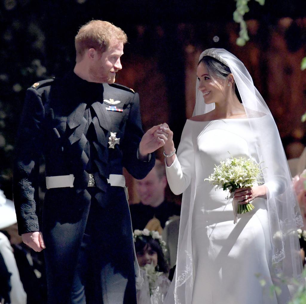 Meghan Markle fez referências históricas com seu vestido de noiva