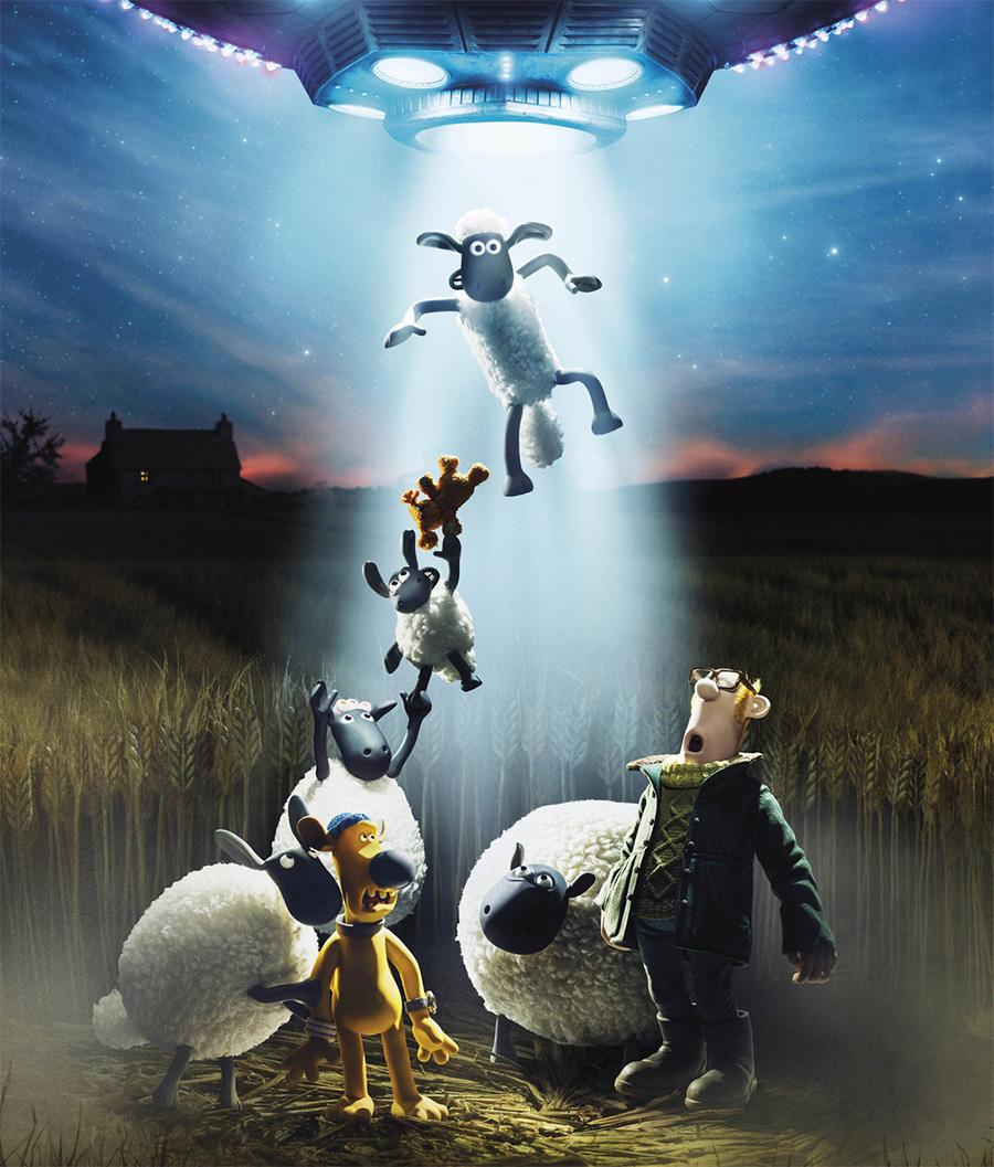 Shaun: O Carneiro é abduzido por aliens no teaser e no pôster de sua nova animação